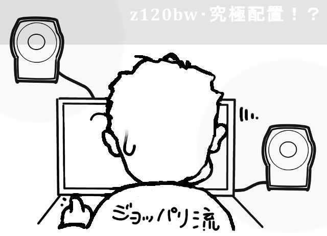 z120の音像が際立つ配置を発見!