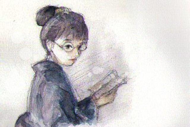 あさ絵 眼鏡女子・田村宣のイラスト