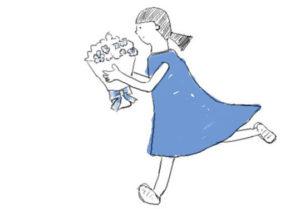 とと姉ちゃん オープニング (花束を届ける青い服の少女)