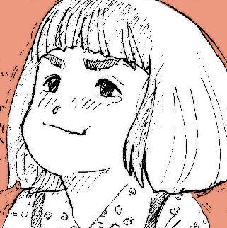 美子 子供時代のイラスト